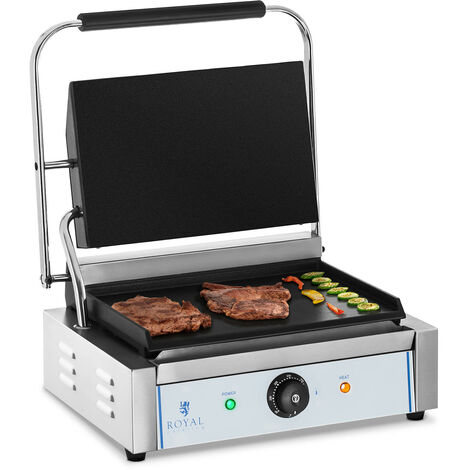 Machine A Panini Grill De Contact Simple Surface Lisse 300°C 2 200 W Emaillee