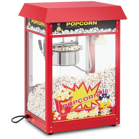 Machine A Popcorn Appareil A Pop Corn Cuiseur Pop-Corn Retro Professionnel Rouge