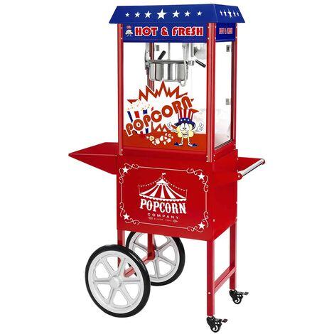 Machine à popcorn Avec Chariot Usa Popcorn Maker 5 Kg 16 L / Heure 1600 Watts