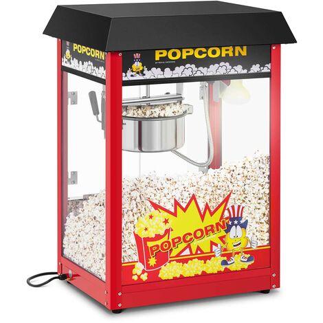Machine à Popcorn Professionnelle Rouge Toit Noir Thermostat 5 Kg/H