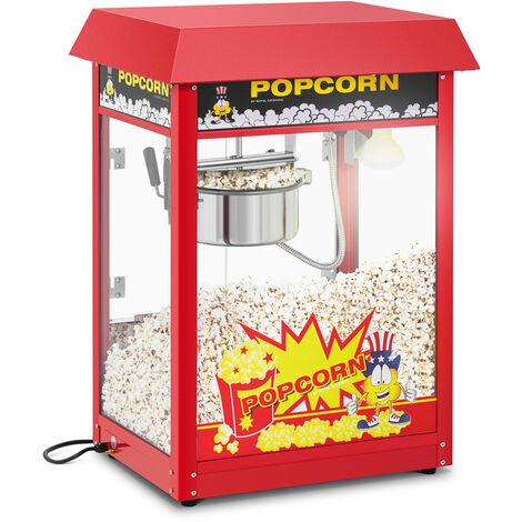 Machine à Popcorn Professionnelle Rouge Toit Rouge Thermostat 1495 W 5 Kg/Heure