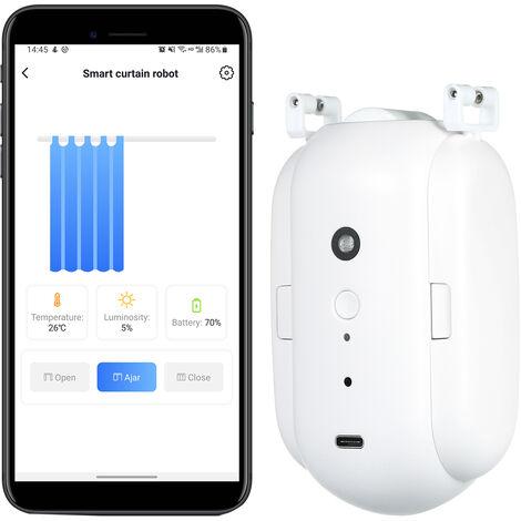Machine a rideau automatique KKmoon Smart Home, WiFi sans fil, installation sans rail, telecommande pour telephone portable