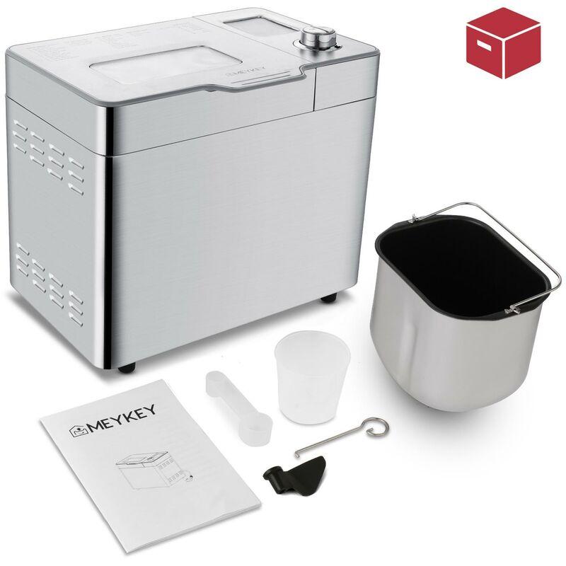 Machine à pain électrique intelligents en acier inoxydable avec chauffage à double tube 2.2LB LED Digital 3 550W - Argenté - BETTER MAISON