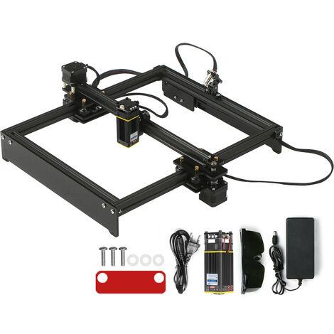 Machine de gravure laser 40W petite machine de gravure bricolage automatique portable machine de marquage en metal machine de codage norme UE + lunettes