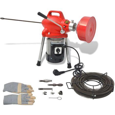 Machine de nettoyage tuyaux 250W 12,5 m x 16 mm 4,5 m x 9,5 mm