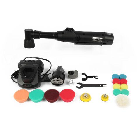 Machine de polissage de voiture portable Mini polisseuse automatique electrique Kit de machine de polissage et de cirage de voiture rechargeable portable, modele: prise UE
