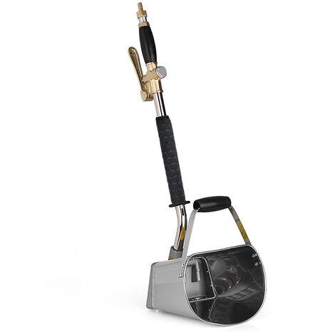 Machine de pulverisation de mortier portable pneumatique pour mur, pistolet de pulverisation de ciment, pistolet de pulverisation de ciment de seau de mortier