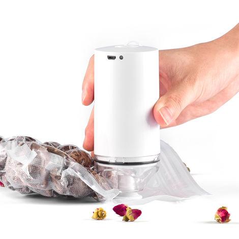 Machine De Scelleuse Sous Vide, Avec 10 Sacs A Fermeture A Glissiere Reutilisables