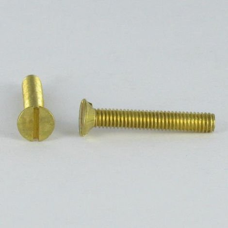 MACHINE SCREW BRASS COUNTERSUNK HEAD SLOTTED 5X40 HOLE AND DRILL M3 STEP 60