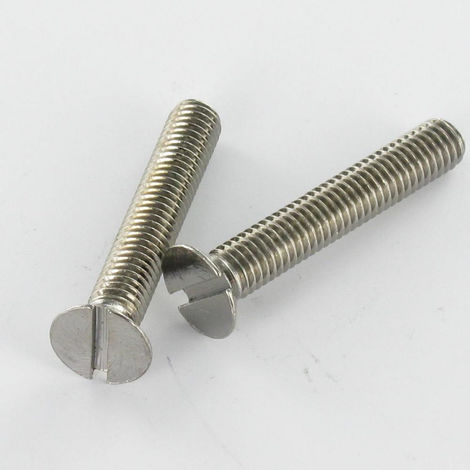 MACHINE SCREW CHROME PLATED BRASS COUNTERSUNK HEAD SLOTTED 6X25