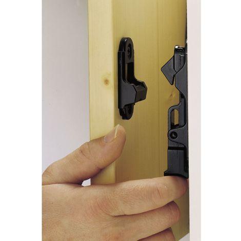 MACO RUSTICO Türladenhalter für Holzmontage, Mauerabstand 25 mm, schwarz