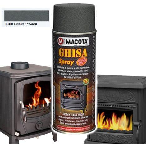 MACOTA Bomboletta Vernice Spray Resistente Alle Alte Temperatura Ghisa Antracite
