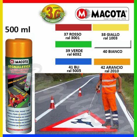 "main image of ""MACOTA SEGNALETICA vernice spray per segnaletica stradale - 500 ML - 6 TINTE"""
