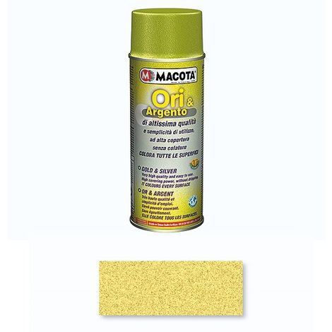 Macota Vernice Spray 400ml Effetto Oro Moderno Smalto Acrilico NON COLA