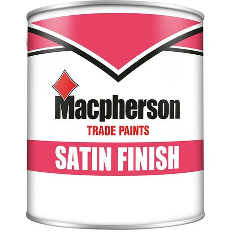 Macpherson Satin Finish Paint - Brilliant White - 1L
