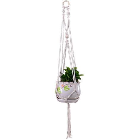 Macrame suspension de la planta tejido decorativo Tiesto titular de la cubierta colgante al aire libre plantador de algodon hecho a mano cesta cuerda decoracion del hogar, tipo 5