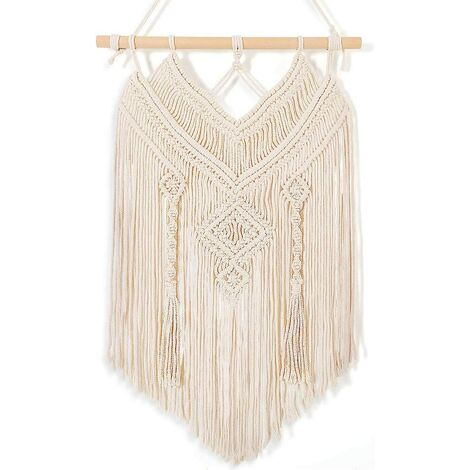 Macrame Wall Hanging, Macrame Wall Decor, Macrame Wall Tapestry Wall Decor, Hand Woven Wall Rugs Indoor Outdoor Bohemian Wedding Living Room Bedroom Decor