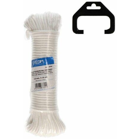 Madeja trenzada polipropileno tendedero 25mts blanco EDM 87804