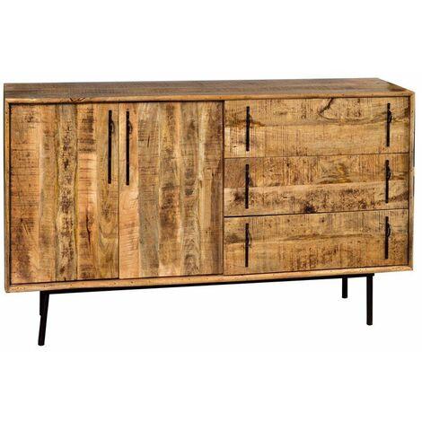 Madia jensen realizzata interamente in legno massello con ante e cassetti