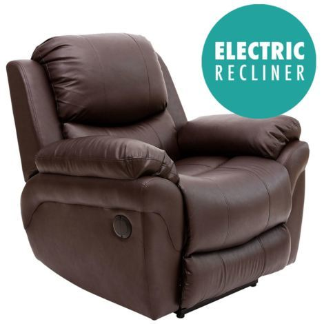 MADISON AUTOMATIC LEATHER RECLINER CHAIR - different colors available