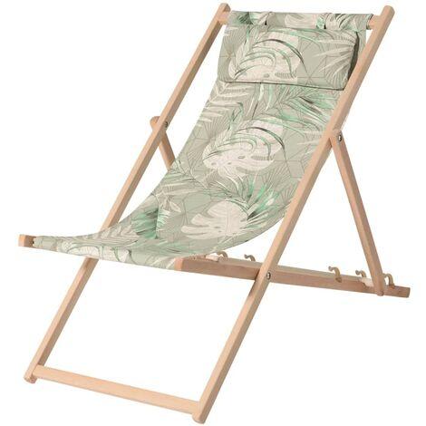 Madison Chaise de plage en bois Dotan Vert