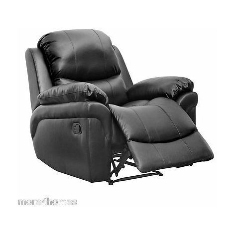MADISON LEATHER RECLINER ARMCHAIR SOFA HOME LOUNGE CHAIR RECLINING GAMING - different colors available