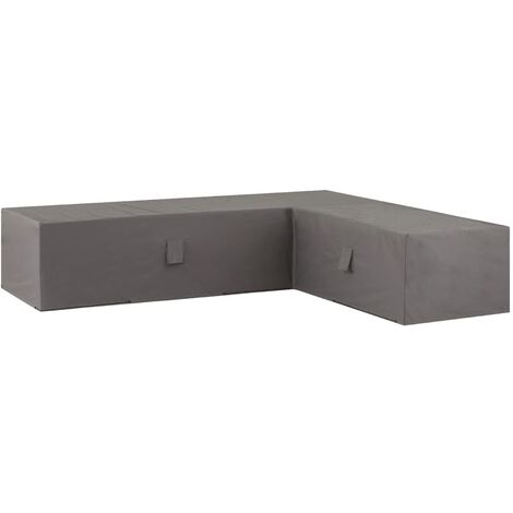 Madison Outdoor Lounge Set Cover 320x255x70cm Left Grey - Grey