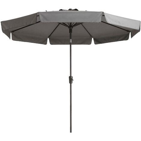Madison Parasol Flores 300 cm Round Light Grey - Grey