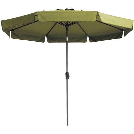 Madison Parasol Flores 300 cm Round Sage Green - Green