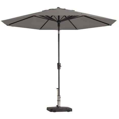 Madison Parasol Paros Round 300 cm Light Grey
