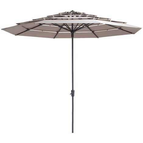 Madison Parasol Syros 350cm Round Outdoor Umbrella Sunshade Multi Colours