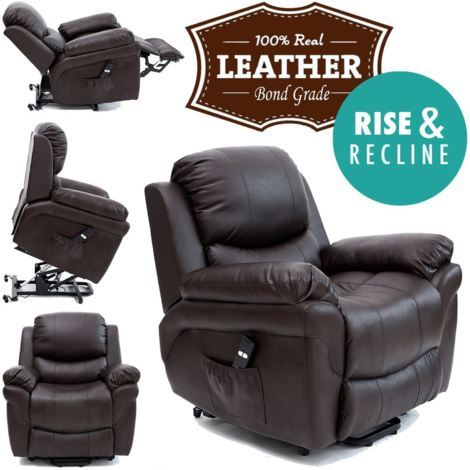 MADISON RISEREC LEATHER RECLINER - different colors available