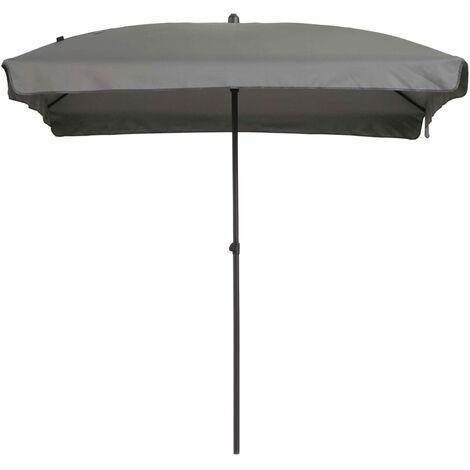 Madison Sombrilla Patmos rectangular 210x140 cm gris claro - Gris
