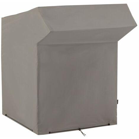 Madison Strandkorb-Abdeckung 128x105x165/140 cm Grau