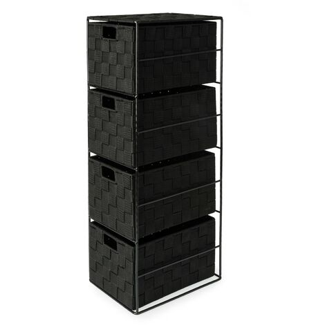 Madrid Cabinet 4 Drawer - Black