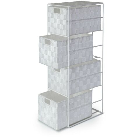Madrid Cabinet 4 Drawer - White