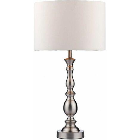 Madrid satin chrome table lamp 1 bulb