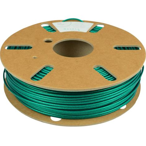 Maertz PMMA-1001-008 Polyactic-Acid Glitter Filament PLA 2.85 mm 750 g bleu-vert, effet scintillant