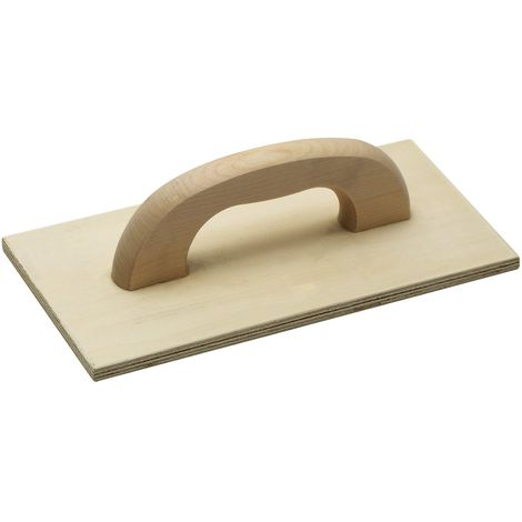 Maestro–Frattazzo mehrschichtholz ✓ 420X 220mm ✓ abachi legno | Frattazzo in legno per muratore e piastrellista | kartaetsche | Putz Brett | glaetts cheibe | 4152600