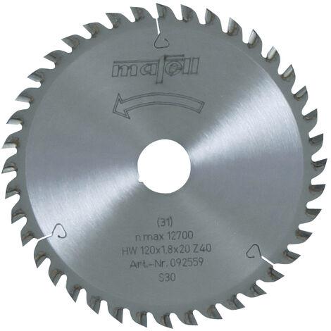 Mafell TCT Fine Cut Circular Saw Blade 120 x 20 x 1.8mm - 40 Teeth