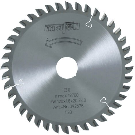 Mafell TCT Laminate Cut Circular Saw Blade 120 x 20 x 1.8mm - 40 Teeth