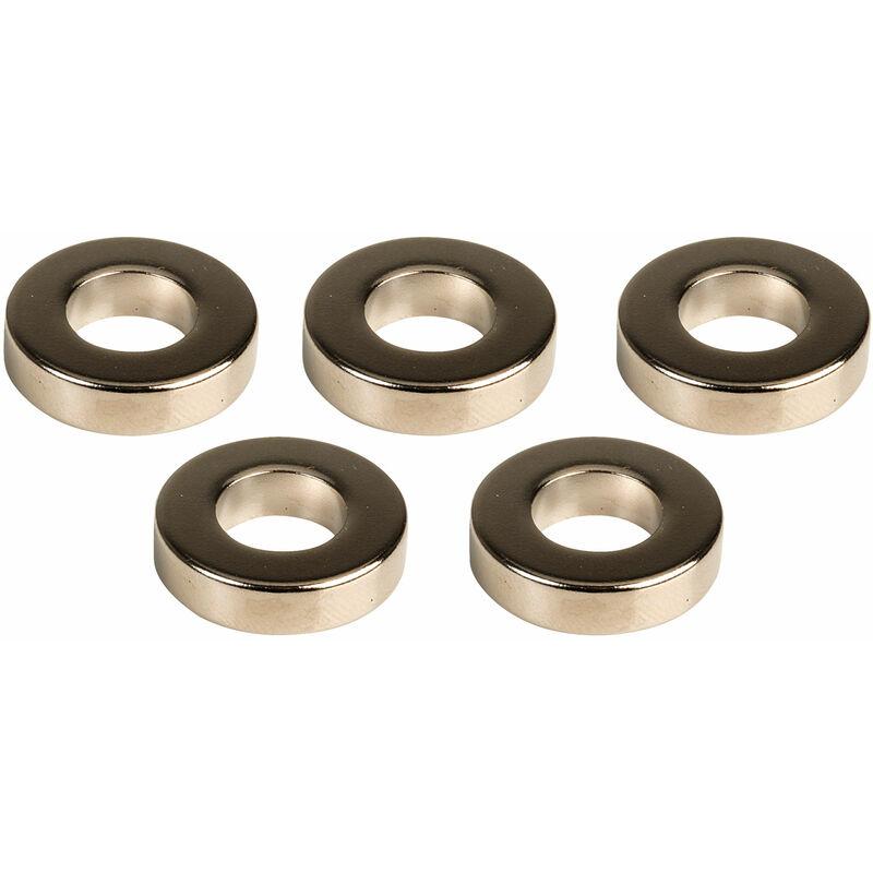 Image of MagDev RGNI01093/N Neodymium Iron Boron 20x10mm N35H Ring Magnet Packs of 5