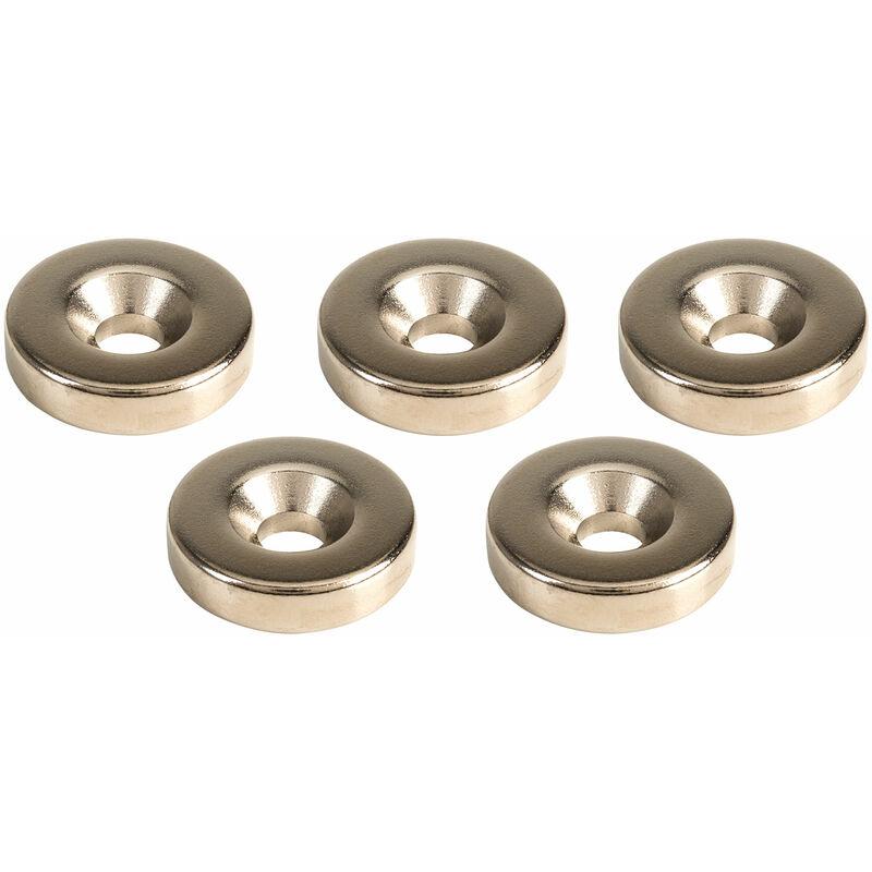 Image of MagDev RGNI05928/N Neodymium Iron Boron N35H C/Sink Ring Magnet Packs of 5