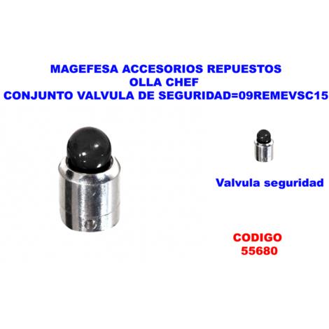 MAGEFESA ACC.OLLA CHEF CONJUNTO VALVULA DE SEGURIDAD=09REMEVSC15