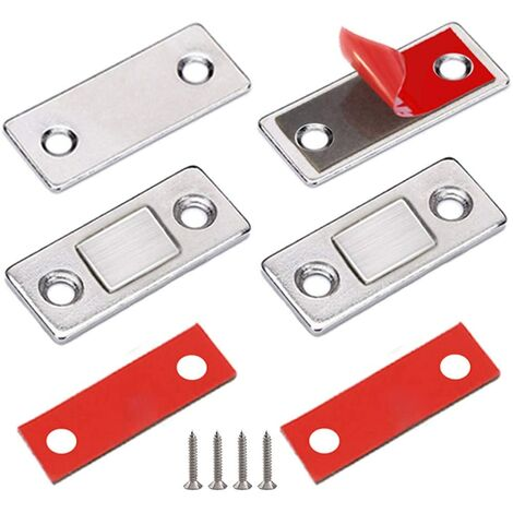 Magnetic Latch Magnet Closet Gate 2 Pieces Very Thin Magnetic Lake Magnet Magnet Closure Adhesive Furniture Powerful Magnet For Sliding Door Drawers Magnetic Wardrobe