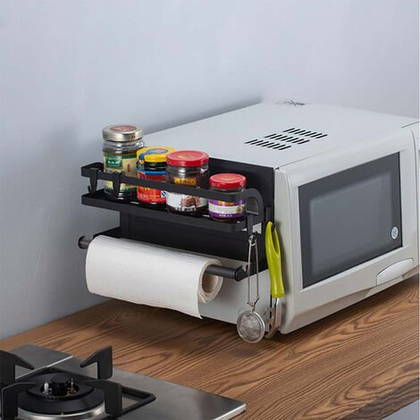 Magnetic Rack Refrigerator Fridge Spice Jar Holder Organizer wPaper Towel Holder
