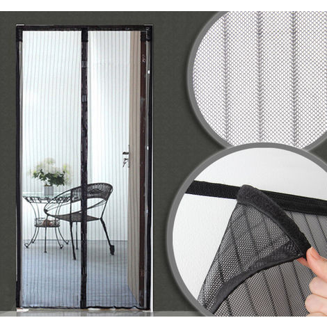Magnetised fly screen door curtain