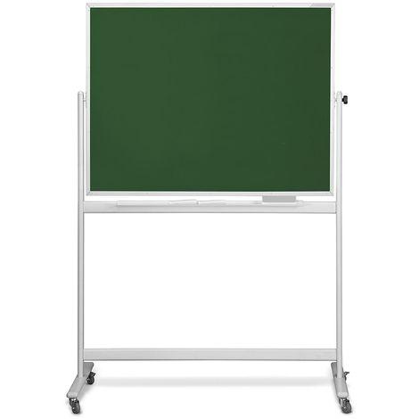 magnetoplan® Tableau pour craies mobile - pivotant de 360° - tableau l x h 1500 x 1000 mm