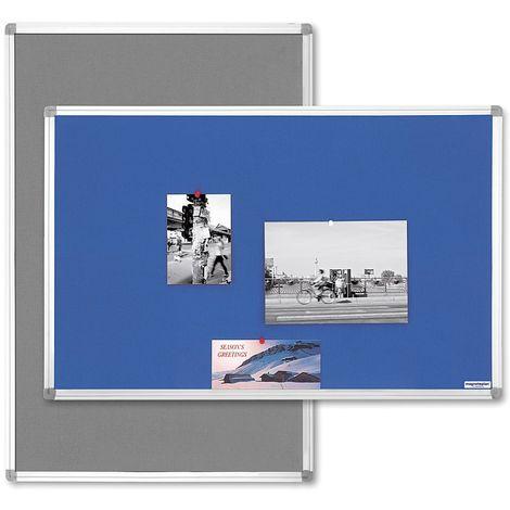 magnetoplan® Tableau textile type SP - gris - l x h 600 x 450 mm - Coloris du tableau: Gris