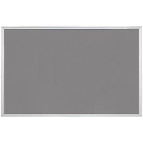 magnetoplan® Tableau textile type SP - gris - l x h 900 x 600 mm - Coloris du tableau: Gris
